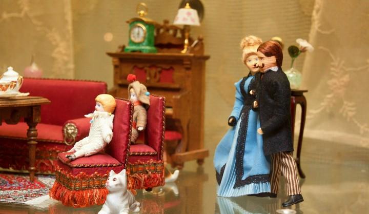 dom dla lalek miniaturzystka