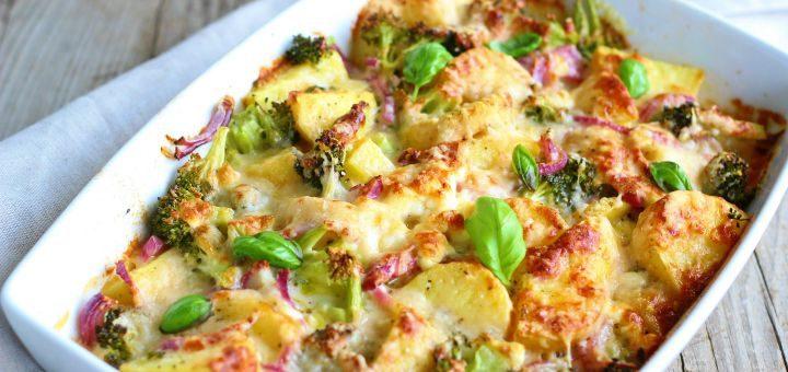 zapiekanka ziemniaczana z brokulami