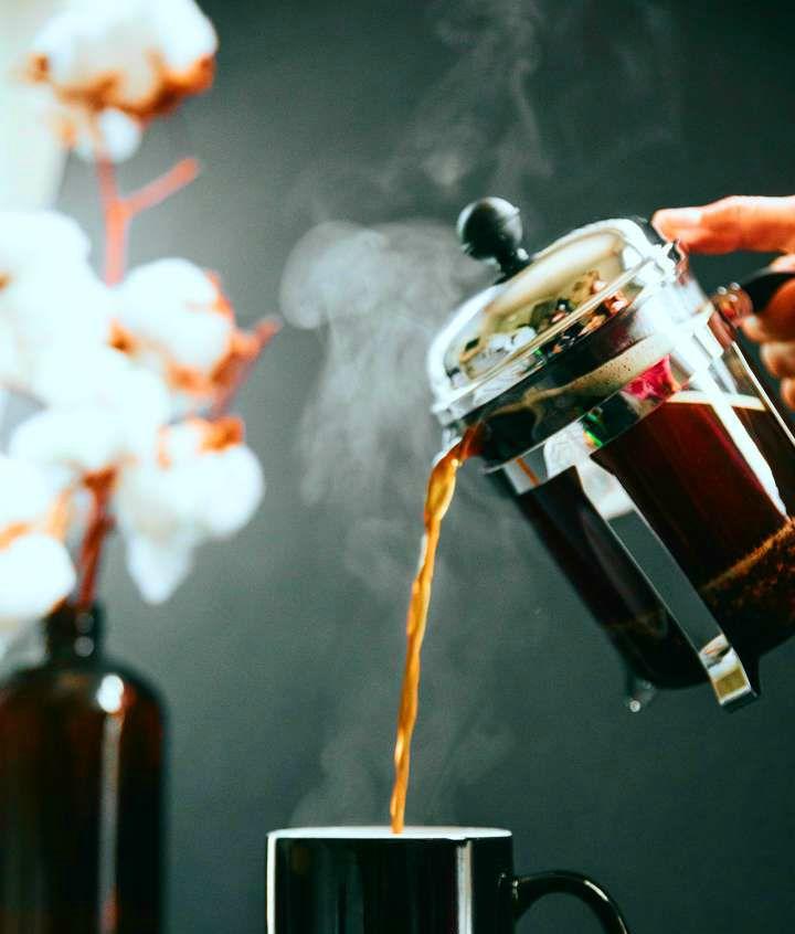 french press kawa w domu