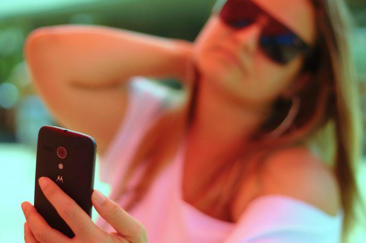 kobieta selfie