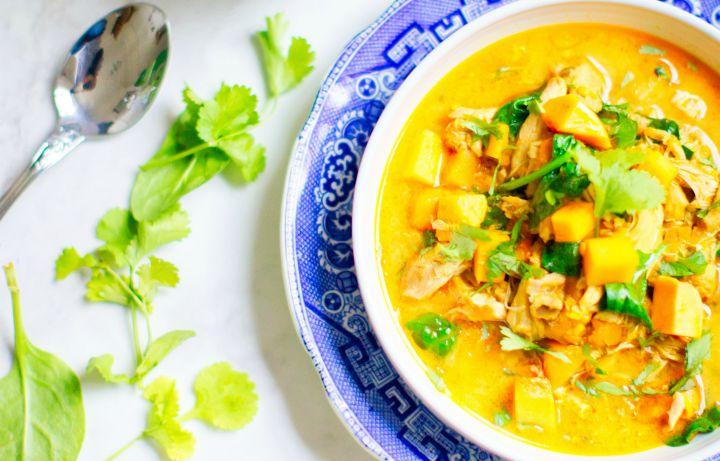 przepis na curry z dynia i kurczakiem