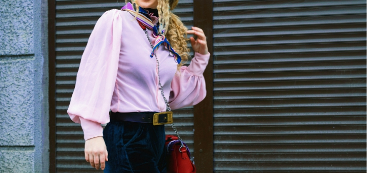 moda na jesień bluzka bufiaste rękawy