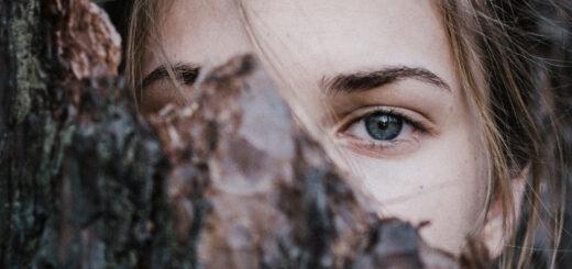 kobieta oczy