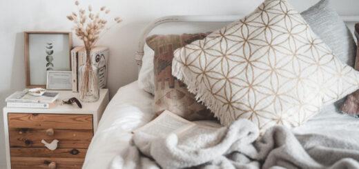 styl skandynawski łóżko