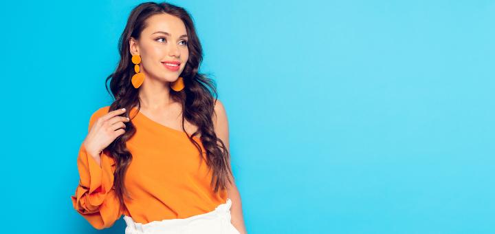 pomarańczowa bluzka